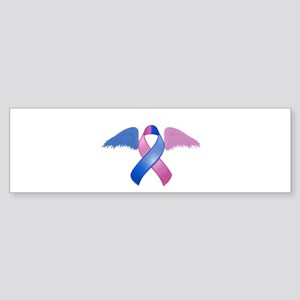 Miscarriage Awareness Ribbon with Wings Sticker (B