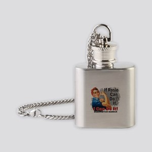 If Rosie Can Do It Brain Tumor Flask Necklace
