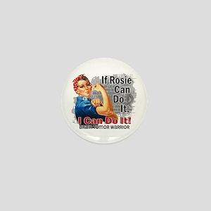 If Rosie Can Do It Brain Tumor Mini Button