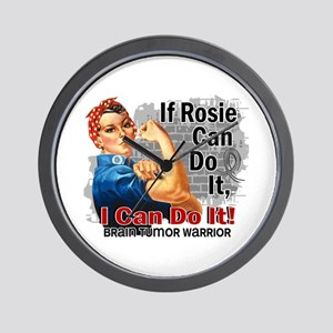 If Rosie Can Do It Brain Tumor Wall Clock