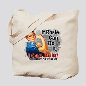 If Rosie Can Do It Brain Tumor Tote Bag