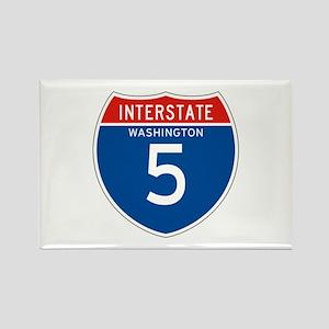 Interstate 5 - WA Rectangle Magnet