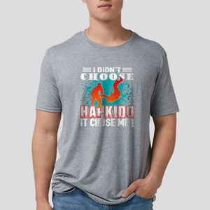 I DIDN'T CHOOSE HAPKIDO SHI Mens Tri-blend T-Shirt