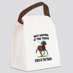 HORSE RACING Canvas Lunch Bag