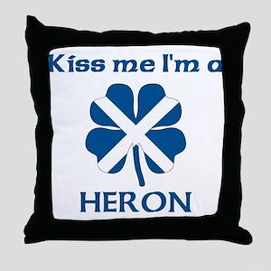 Heron Family Throw Pillow