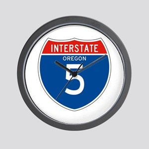 Interstate 5 - OR Wall Clock