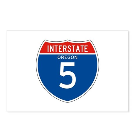 Interstate 5 - OR Postcards (Package of 8)
