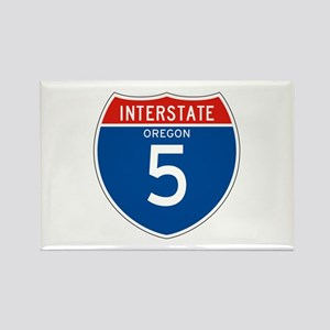 Interstate 5 - OR Rectangle Magnet