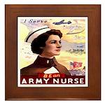 Be An ARMY Nurse Framed Tile
