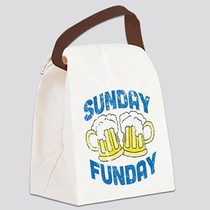Sunday Funday Vintage Canvas Lunch Bag