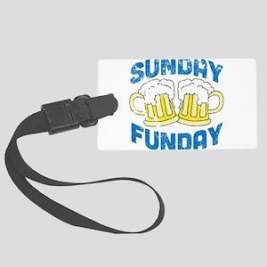 Sunday Funday Vintage Luggage Tag