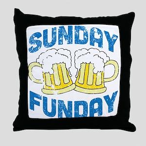Sunday Funday Vintage Throw Pillow