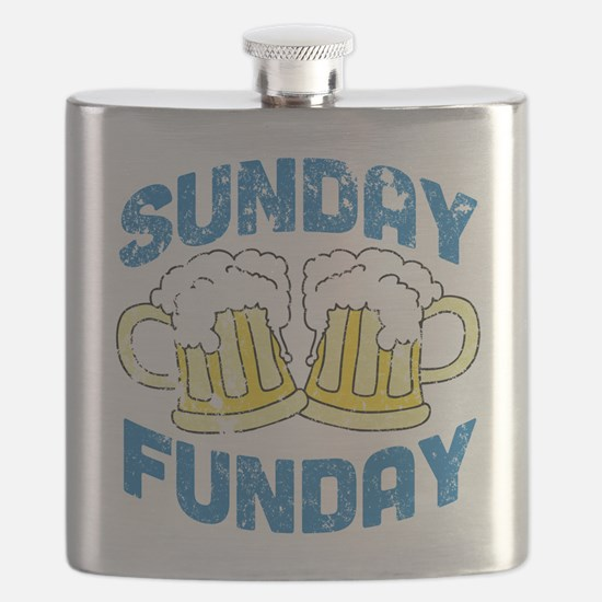 Sunday Funday Vintage Flask