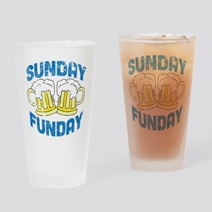 Sunday Funday Vintage Drinking Glass
