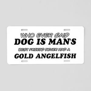 Gold Angelfish Designs Aluminum License Plate