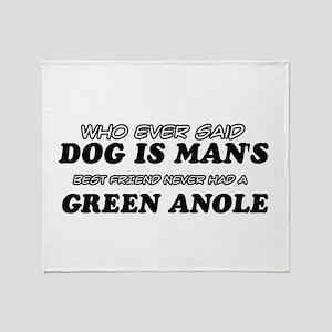 Green Anole Designs Throw Blanket