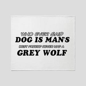 Grey Wolf Designs Throw Blanket
