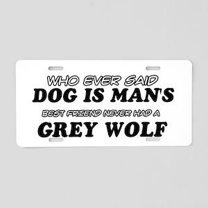 Grey Wolf Designs Aluminum License Plate