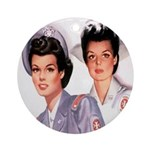 Cadet Nurse Ornament (Round)