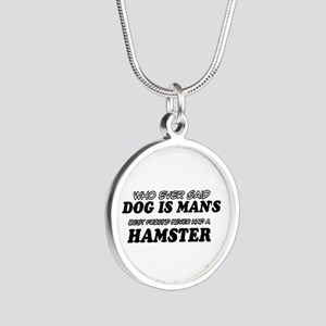 Hamster Designs Silver Round Necklace