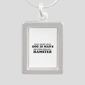 Hamster Designs Silver Portrait Necklace