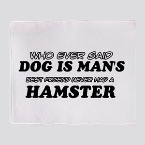 Hamster Designs Throw Blanket