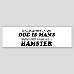 Hamster Designs Sticker (Bumper)