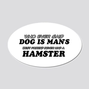Hamster Designs 20x12 Oval Wall Decal