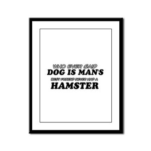 Hamster Designs Framed Panel Print
