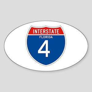 Interstate 4 - FL Oval Sticker