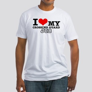 Crossing Guard Job Designs Fitted T-Shirt