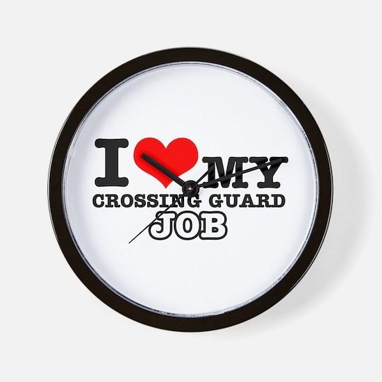 Crossing Guard Job Designs Wall Clock