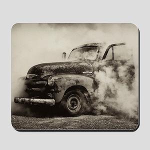 Burnout Pit Truck Mousepad
