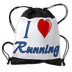 I Heart Running Drawstring Bag