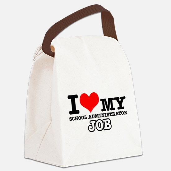 School Administrator Job Designs Canvas Lunch Bag