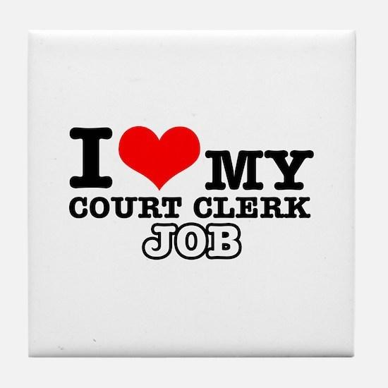 Court Clerk Job Designs Tile Coaster