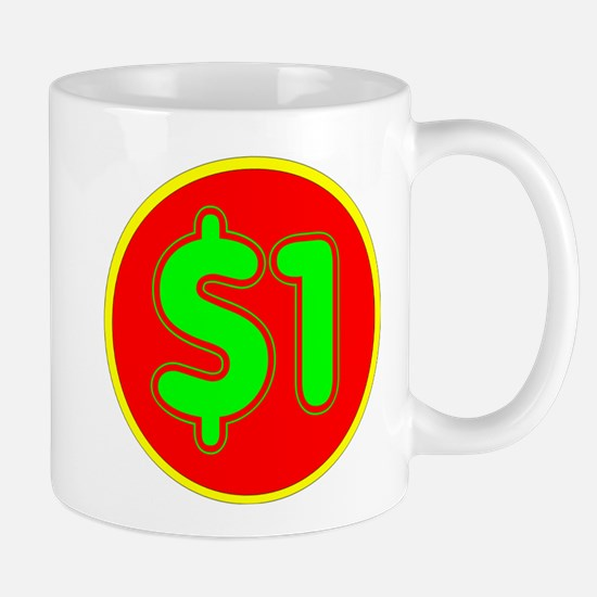 PRICE TAG LABEL - $1 - ONE DOLLAR Small Mug