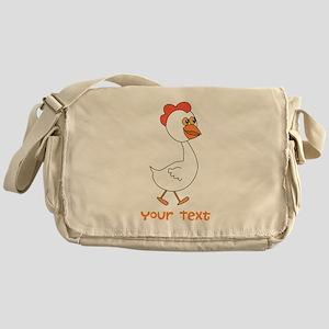 Chicken and Text. Messenger Bag