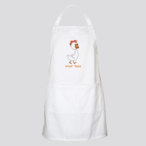Chicken and Text. Apron