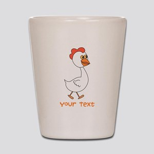 Chicken and Text. Shot Glass