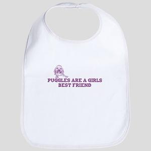 Puggles are a girls best frie Bib
