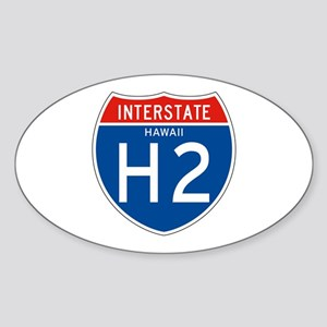 Interstate 2 - HI Oval Sticker