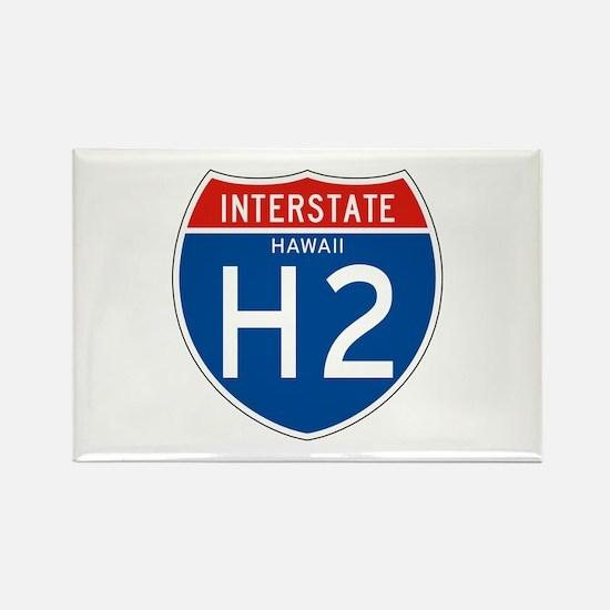 Interstate 2 - HI Rectangle Magnet