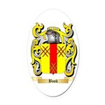 Book Oval Car Magnet