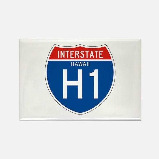 Interstate 1 - HI Rectangle Magnet
