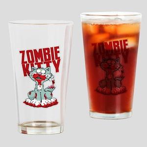 Zombie Kitty Drinking Glass