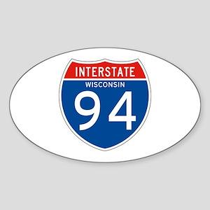 Interstate 94 - WI Oval Sticker