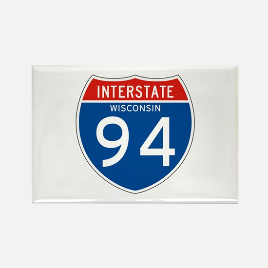 Interstate 94 - WI Rectangle Magnet