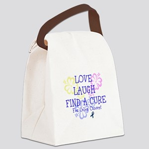 Love Laugh Cure Colon Canvas Lunch Bag