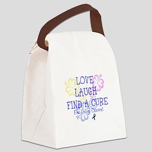 Love Laugh Cure Colon Canvas Lunch Bag